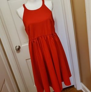 Torrid Ponte High Neck Red Skater Dress - 12